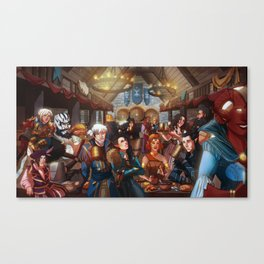 Party at the tavern Canvas Print