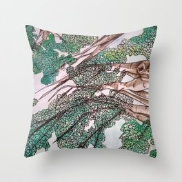 Long Before These Crowded Streets Throw Pillow
