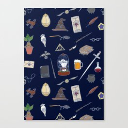 Harry Pattern Night Canvas Print