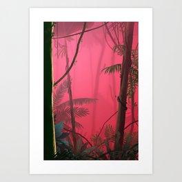 Jungle in Pink Fog Art Print
