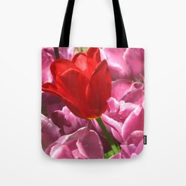 Prima Donna Among The Tulips Tote Bag