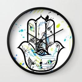 Looking at You Hamsa Wall Clock