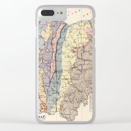 Vintage Geological Map of Ohio (1872) Clear iPhone Case