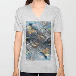 whimsical abstract paint image Unisex V-Neck