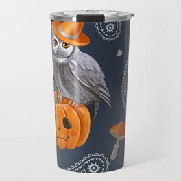Owl Halloween Travel Mug