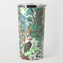 Bird Grid Paste Up 2 Travel Mug