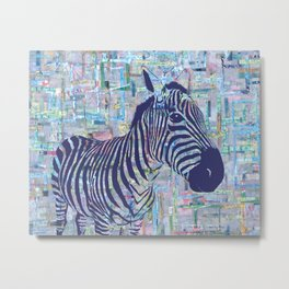Zoe the Zebra Metal Print