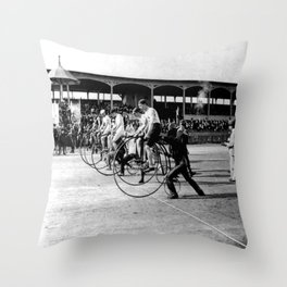 Bicycle race Throw Pillow