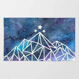 Watercolor galaxy Night Court - ACOTAR inspired Rug