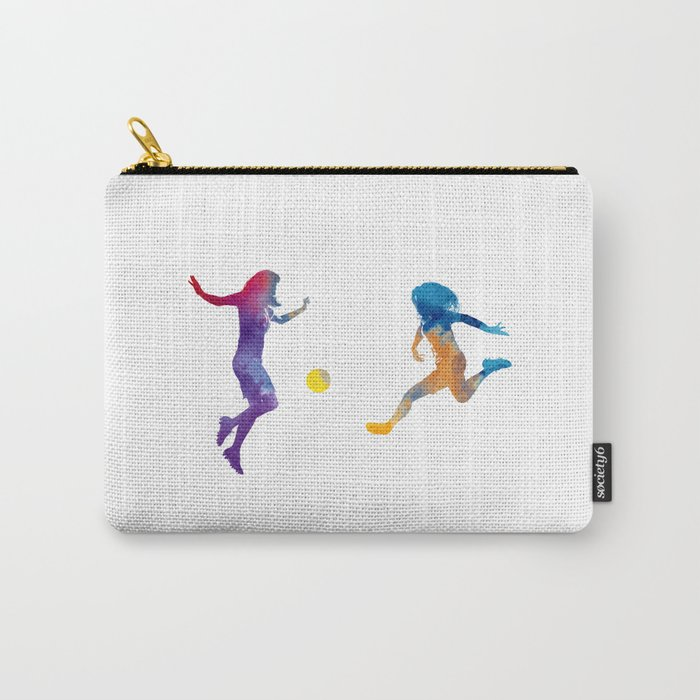 Women soccer players 01 in watercolor Carry-All Pouch