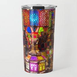 Lamps in the Souk, Fez Morocco, Africa Travel Mug