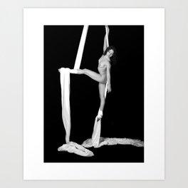Jill Nude with Silks Art Print