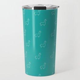 Baesic Llama Pattern (Teal) Travel Mug