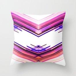 Futuristic Native Aztec Pattern Throw Pillow