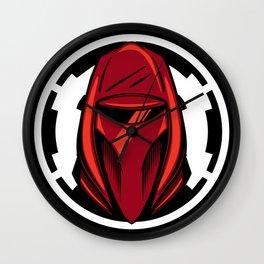 Red Guard Illustration Wall Clock