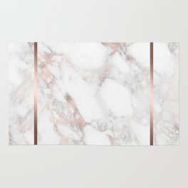 Luxury Rose-gold Faux Marble Rug
