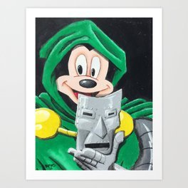 Diznee Doom Art Print
