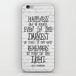 Albus Dumbledore Quote Inspirational iPhone Skin