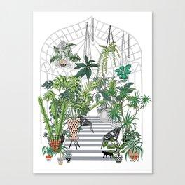 greenhouse illustration Canvas Print