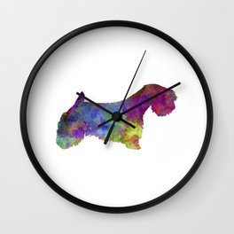 Sealyham Terrier in watercolor Wall Clock