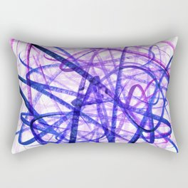 Violet Chaos Expressive Lines Abstract Rectangular Pillow