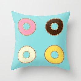 Four Doughnuts Throw Pillow