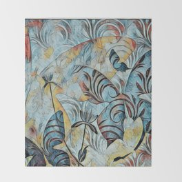 A Butterfly Abstract Throw Blanket