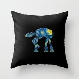 Starry Walker Throw Pillow