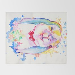 Rainbow Bunny Throw Blanket