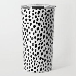 Dalmatian Spots (black/white) Travel Mug