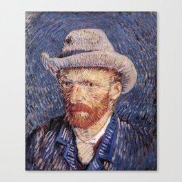 Self-Portrait with Grey Felt Hat by Vincent van Gogh Canvas Print