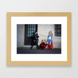 DC Ladies: Catwoman, Harley Quinn, Supergirl 3 Framed Art Print
