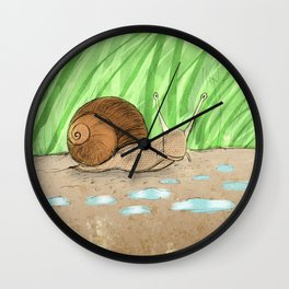 Schnecke 2 Wall Clock