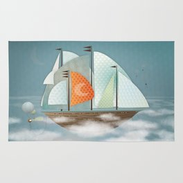 Sailing on clouds Rug