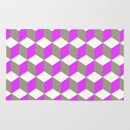 Diamond Repeating Pattern In Ultra Violet Purple and Grey Rug