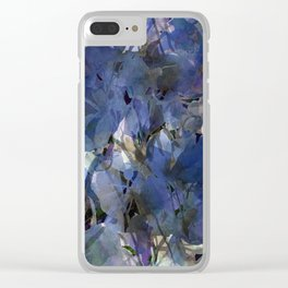 Moody Blooms Clear iPhone Case