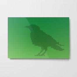 Crow cross stitches Metal Print