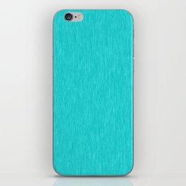 Cyan Fibre iPhone Skin