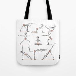 Yoga Bones of Love Tote Bag