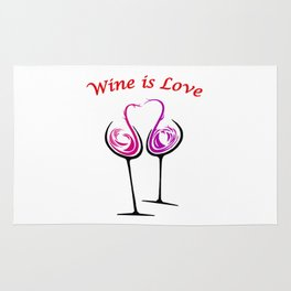 Wine is Love - Style 7 Rug