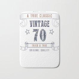 70th-Birthday---Vintage-70-Tried-&-True Bath Mat