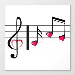 Music love concept Canvas Print