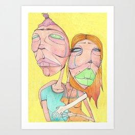 hipster heartache  Art Print
