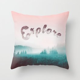 Explore the Wild. Wanderlust Throw Pillow