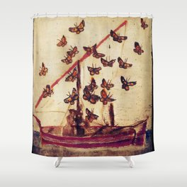 The Poetry Of Butterflies Shower Curtain