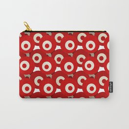 Buttons Red - Objects Series Carry-All Pouch