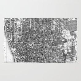 Vintage Map of Liverpool England (1890) BW Rug