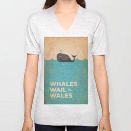 Whales Wail Unisex V-Neck