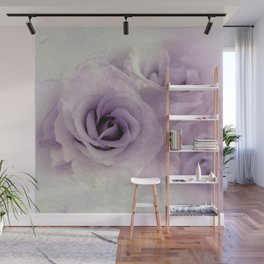 wet purple rose Wall Mural