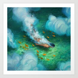 Dive With Me Art Print